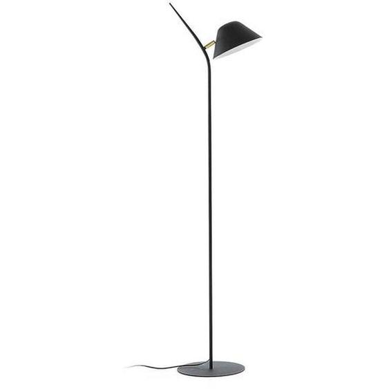Stehlampe in Schwarz Stahl