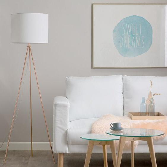 Stehlampe kupfer / weiß 148 cm VISTULA