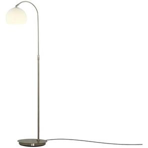 Stehlampe mit gebogenem, verstellbarem Arm ¦ silber