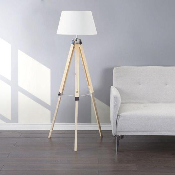 Stehlampe naturweiß 143 cm Trommelform MADEIRA