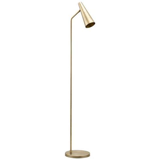 Stehlampe Precise aus Eisen und Messing im zarten Gold Höhe 124 cm