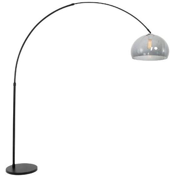 Stehlampe, Schwarz, Alu, Eisen, Stahl & Metall
