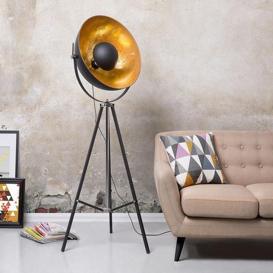 Stehlampe schwarz / gold 165 cm THAMES II