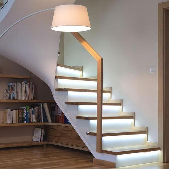 Stehlampe weiß 188 cm rund Marmorfuß BENUE