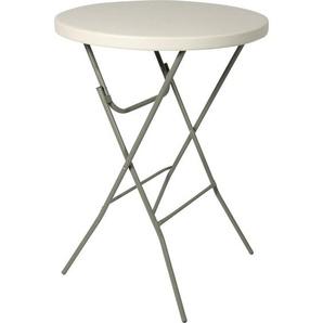 : Tisch, Alu, Weiß, B/H Ø80 110