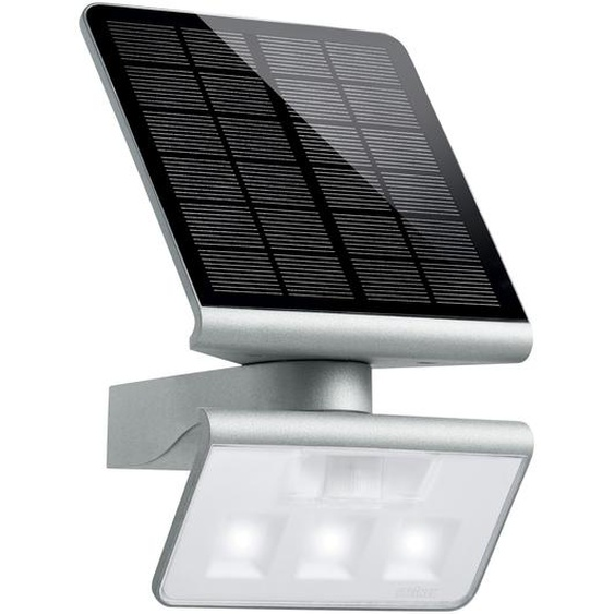 Steinel LED-Solar-Außenwandleuchte mit Bewegungsmelder X Solar L-S Silber