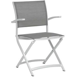 Stern Camillo Balkonklappsessel Aluminium Weiß/Silber