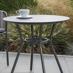 Stern Möbel Tisch Space grau, Designer a&o Industrial Design, 67 cm