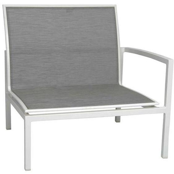 Stern Skelby Endmodul Rechts Aluminium/Textilene Weiß|Hellgrau