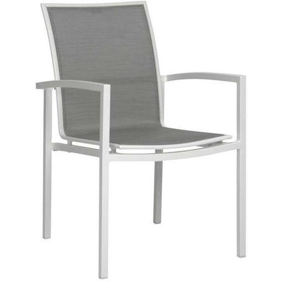 Stern Skelby Stapelsessel Aluminium Weiß/Silber