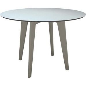 Stern Tisch Ø 110 cm Aluminium mit Tischplatte Silverstar 2.0 Graphit Nordic Green