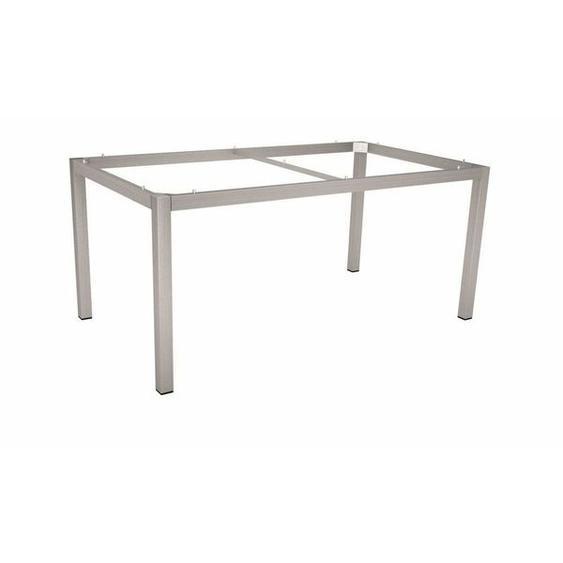 Stern Tischgestell 130x80cm Edelstahl Vierkantrohr Hellgrau