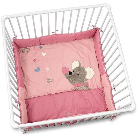 Sterntaler Laufgittereinlage Mabel Einheitsgröße rosa Kinder Laufgittereinlagen Babygitter Bettnestchen