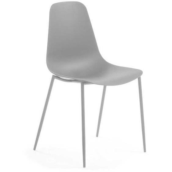 Stühle in Grau Kunststoff und Stahl (4er Set)