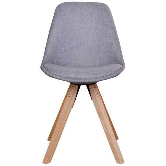 Stühle in Hellgrau Webstoff Skandi Design (2er Set)