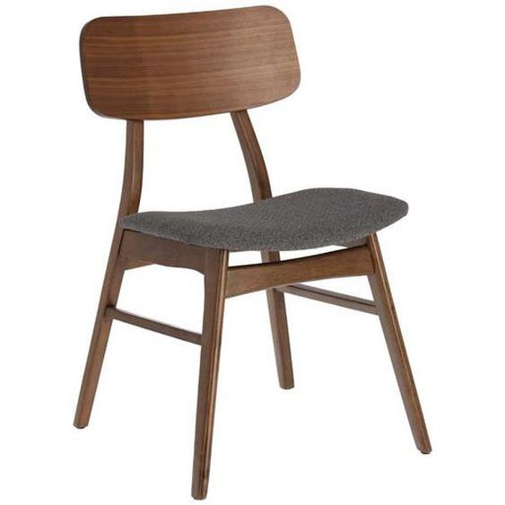 Stühle in Walnussfarben und Grau Skandi Design (2er Set)