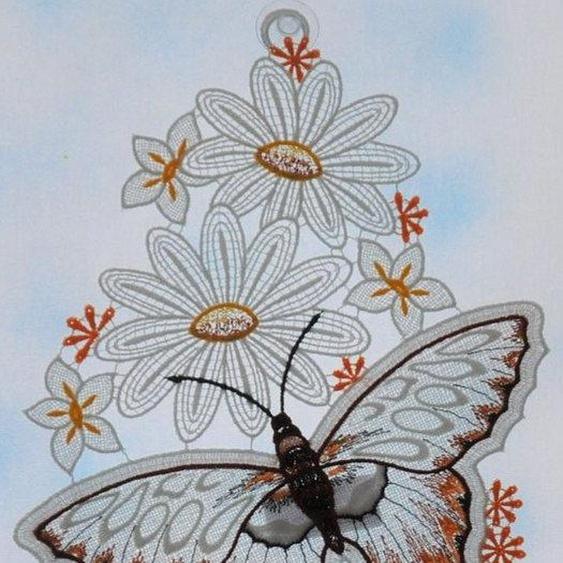 Stickereien Plauen Fensterbild »Schmetterling« (1 Stück)