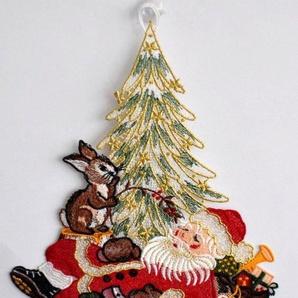 Fensterbild, Stickereien Plauen, »Weihnachtsmann«