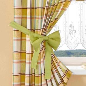Stickereien Plauen Raffhalter Dolche L: 130 cm grün Zubehör für Gardinen Vorhänge
