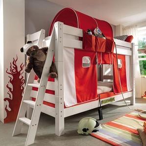 Stockbett Kids Dreams, weiß mit Holzstruktur, 90x200 cm