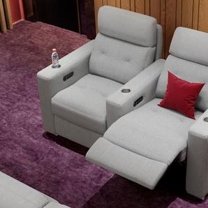 Stoff 2 Sitzer Couch MATERA mit Sitztiefenverstellung