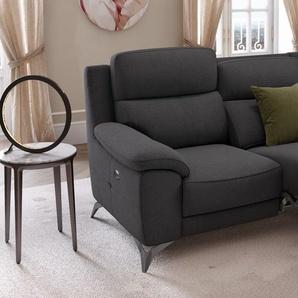 Stoff Couchgarnitur LANTELLA 2-Sitzer