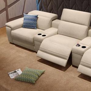 Stoff Kino Couch 3-Sitzer SORA mit Verstellung