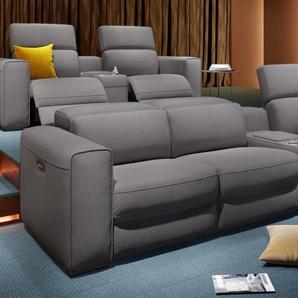 Stoff Kino Sofa BOVINO 3-Sitzer Couch Heimkino