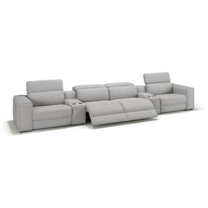 Stoff Kinosofa BOVINO 4-Sitzer Kino Couch
