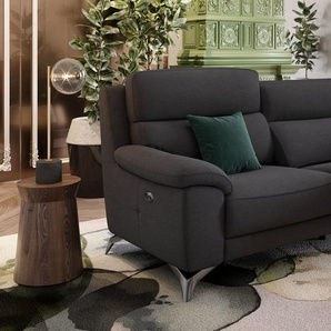 Stoff Sofagarnitur LANTELLA 3-Sitzer Couchgarnitur