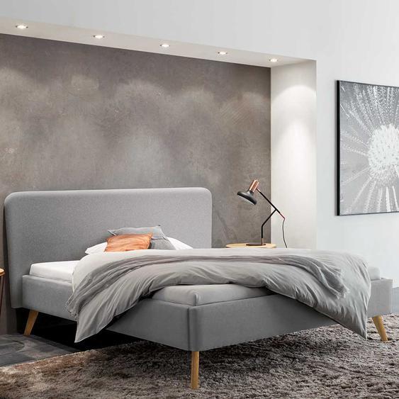 Stoffbett in Grau 160x200 cm