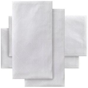 Stoffserviette , weiß, 50x50cm quadratisch, Öko-Tex-Zertifikat, »Rhomus«, , , DDDDD