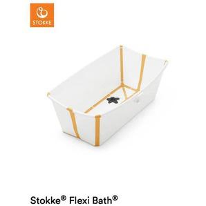 Stokke Faltbare Flexibath , Gelb, Weiß , Kunststoff , 35x24 cm , BPA-frei , Baden & Wickeln, Babywannen