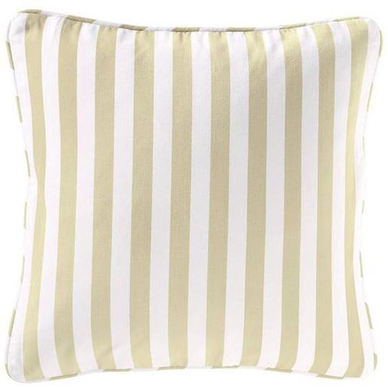 Streifenkissenhülle beige-weiß - bunt - 100 % Baumwolle - Zierkissen & Polsterrollen  Zierkissen - Kissenbezüge