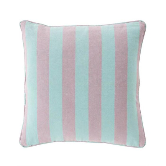 Streifenkissenhülle mint-lila - Lila/Mint - 100 % Baumwolle - Zierkissen & Polsterrollen  Zierkissen - Kissenbezüge