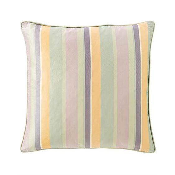 Streifenkissenhülle pastellfarben - bunt - 100 % Faux Silk - Zierkissen & Polsterrollen  Zierkissen - Kissenbezüge