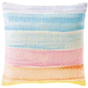 Streifenkissenhülle Regenbogen - bunt - 100 % Baumwolle - Zierkissen & Polsterrollen  Zierkissen - Kissenbezüge