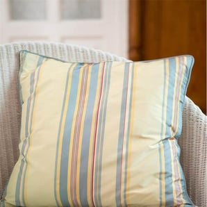 Streifenkissenhülle sandgelb - bunt - 100 % Faux Silk - Zierkissen & Polsterrollen  Zierkissen - Kissenbezüge