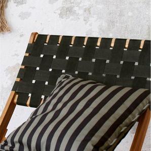 Streifenkissenhülle schwarz-grau - bunt - 100 % Baumwolle - Zierkissen & Polsterrollen  Zierkissen - Kissenbezüge