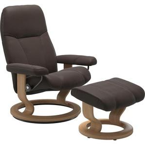 Stressless® Relaxsessel »Consul« (Set), mit Hocker, mit Classic Base, Größe L, Gestell Eiche