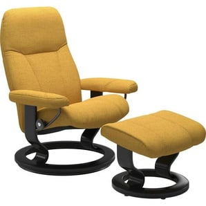 Stressless® Relaxsessel »Consul« (Set), mit Hocker, mit Classic Base, Größe L, Gestell Schwarz