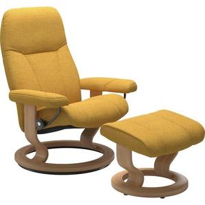 Stressless® Relaxsessel »Consul« (Set), mit Hocker, mit Classic Base, Größe M, Gestell Eiche