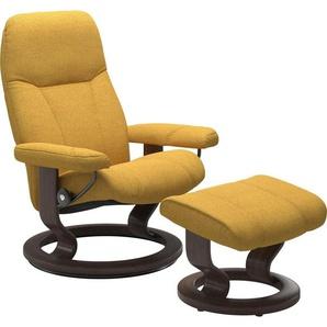 Stressless® Relaxsessel »Consul« (Set), mit Hocker, mit Classic Base, Größe M, Gestell Wenge