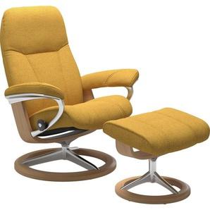 Stressless® Relaxsessel »Consul« (Set), mit Hocker, mit Signature Base, Größe M, Gestell Eiche