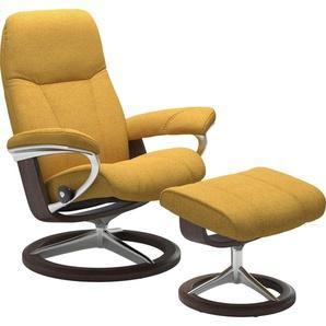 Stressless® Relaxsessel »Consul« (Set), mit Hocker, mit Signature Base, Größe M, Gestell Wenge
