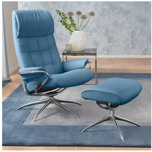 Stressless® Set: Relaxsessel mit Hocker »London« mit Star Base, in 2 Höhen, mit Schlaffunktion