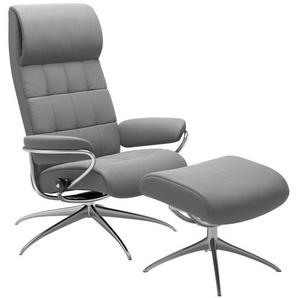 Stressless® Relaxsessel »London« (Set, 2 tlg), mit Hocker, mit Star Base, in 2 Höhen, mit Schlaffunktion