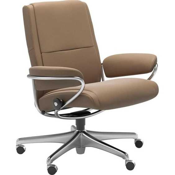 Stressless® Relaxsessel »Paris«, Low Back, mit Home Office Base, Gestell Chrom