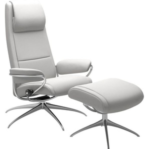 Stressless® Relaxsessel »Paris« (Set), mit Hocker, High Back mit Star Base, in 2 Fußhöhen