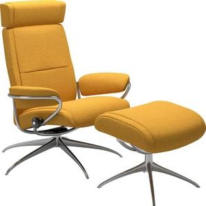 Stressless® Relaxsessel »Paris« (Set), mit Kopfstütze mit Hocker, Low Back mit Star Base, in 2 Fußhöhen